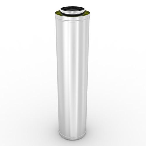 Kit cos de fum din inox, 5 m, diametru 200 mm, suspendat