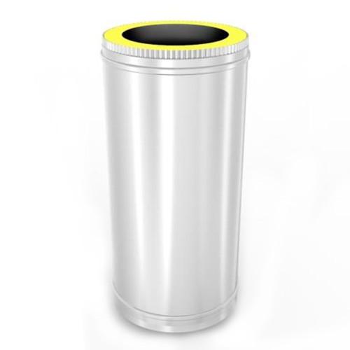 Tub izolat din inox pentru cos de fum, diametru 160 mm, lungime 500 mm