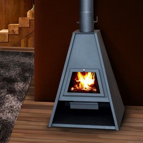 Soba pe lemne Victoria 05 Delta, 16.1 kW, samotata,  clasa A, Gri grafit