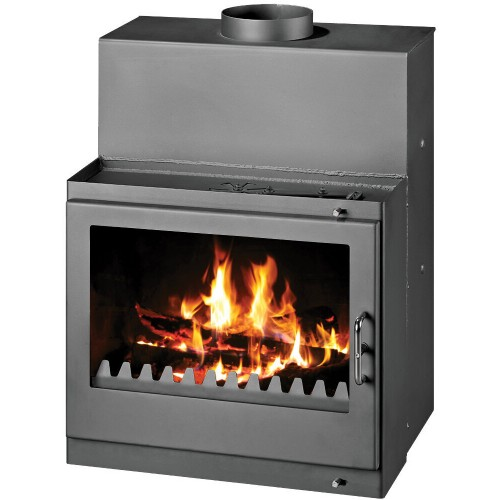 Termosemineu pe lemne Victoria Tropic B, 22.3 kW, incalzire apa cu boiler incorporat, clasa A, Negru