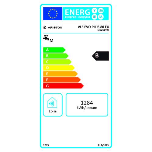 Boiler electric Ariston VELIS EVO PLUS 80 EU, 80 litri, Afisaj LED, Design modern, Tehnologie Titanium PLUS, Instalare O/V