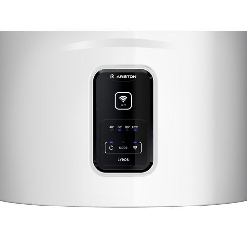 Boiler electric Ariston Lydos WIFI 100 V 1.8K, capacitate 100 litri, Tehnologie WaterPlus, Protectie rezervor TitanShield, Control WiFi