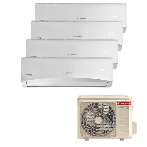 Aparat de aer conditionat quadri split Ariston Prios 110 XD0, 4 x 12000 BTU, Follow Me, Aromoterapie, WiFi Ready, freon R32, A++