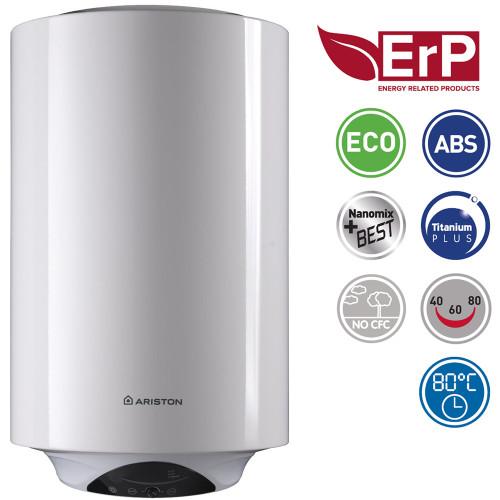 Boiler electric Ariston Pro Plus 50 V 1,8K EU, 50 litri, LCD, termoizolatie, functie ECO, programare zilnica