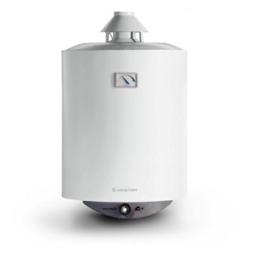 Boiler pe gaz Ariston S/SGA 80, 80 litri, montaj pe perete, tiraj natural, reglare temperatura