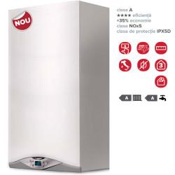 Centrala termica in condensare Ariston Cares Premium 24 FF, capacitate 24 kW, afisaj LCD, ACM instant