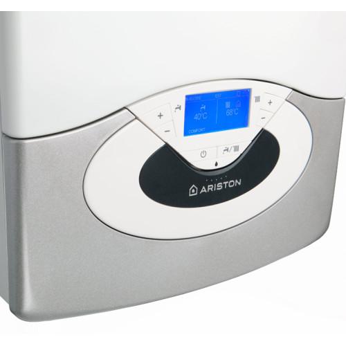 Centrala termica in condensare Ariston Genus Premium Evo NET 35 EU, tiraj fortat, 35 kW, ACM instant, display LCD, amortizor zgomot