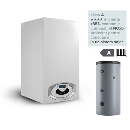 Pachet centrala termica in condesare Genus Premium HP Evo 115 EU cu boiler Maxis CD1 800L