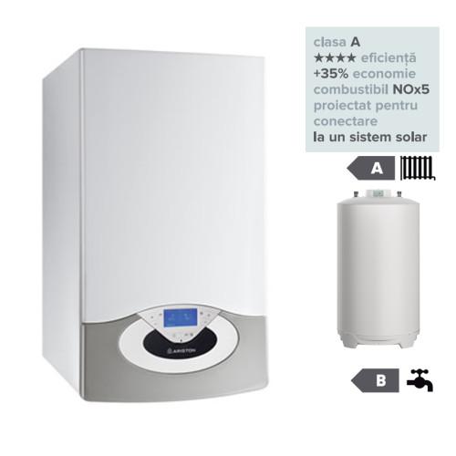 Pachet centrala termica in condesare Genus Premium HP Evo 65 EU cu boiler indirect BCH 200 EU