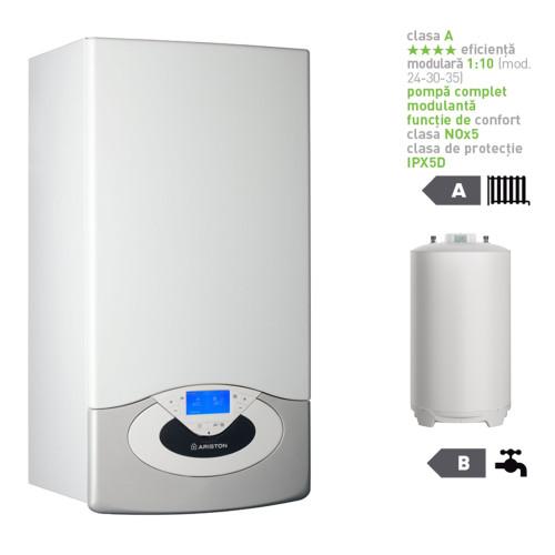 Pachet centrala termica in condesare Genus Premium System Evo 30 EU cu boiler indirect BCH 160 EU