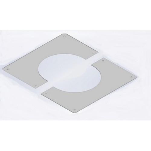 Element etansare / suport metalic perete ATI 9-127, diametru 127 mm, alb