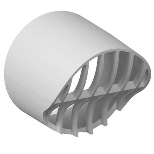 Terminatie tubulatura evacuare centrala sau hota ATI, diametru 80 mm, alb