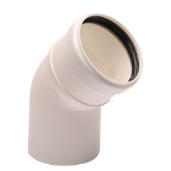 Cot evacuare gaze arse centrale termice condensare ATI WB2-48P, diametru 80 mm, 45 grade, plastic