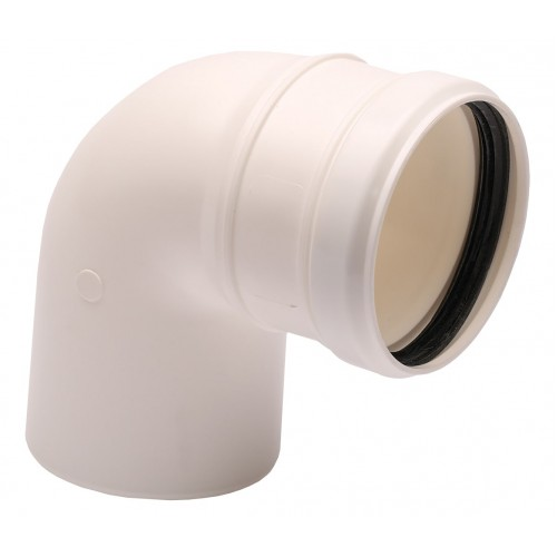Cot evacuare gaze arse centrale termice condensare ATI WB2-98P, diametru 80 mm, 90 grade, plastic