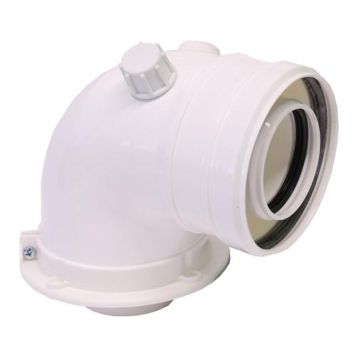 Cot plecare kit evacuare centrala termica condensare ATI Tip 09, PP/PP, diametru 60 / 100