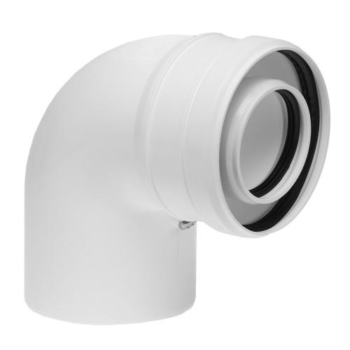 Cot prelungire evacuare centrala termica condensare ATI 90 grade, PP/PP, diametru 60 / 100