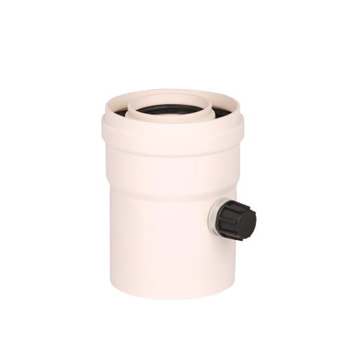 Plecare verticala kit evacuare centrala termica condensare ATI Tip 2, diametru 60 / 100, PP / PP, Compatibil Viessmann Baxi Argo Roca