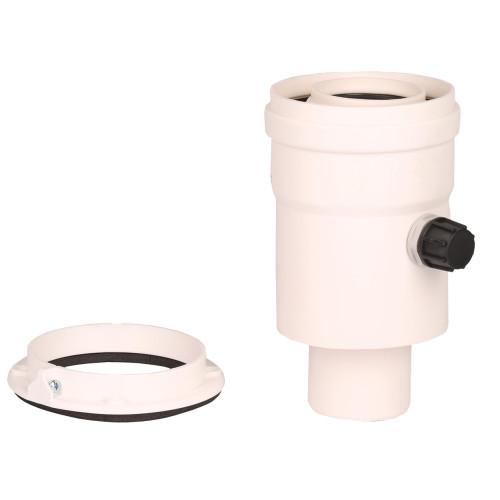 Plecare verticala kit evacuare centrala termica condensare ATI Tip 6, diametru 60 / 100, PP / PP, WBPP61006, Compatibil Unical
