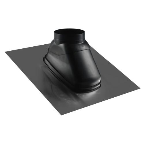 Tabla acoperire trecere tub evacuare ATI N5-TA50, neagra, 450 x 450, inclinatie 25-50 grade