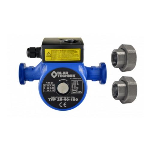 Pompa de circulatie apa potabila Blautechnik  25-80-180, racorduri incluse, inaltime maxima pompare 8 m