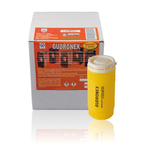 Agent pentru curatare cazane combustibil solid Chemstal Gudronex 4 doze x 250 g