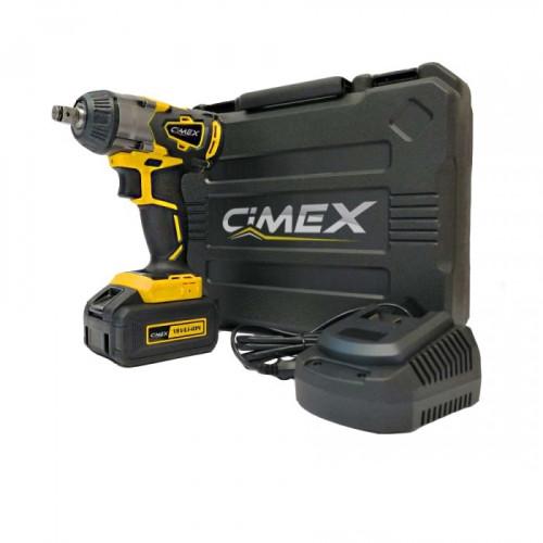 Masina electrica de insurubat cu impact Cimex CW18V350NM-B, 18V, 4000 mAh, Li-ion, 350 Nm