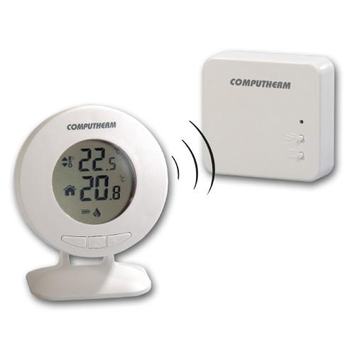 Termostat centrala termica Computherm T30RF wireless (fara fir), display circular, alb