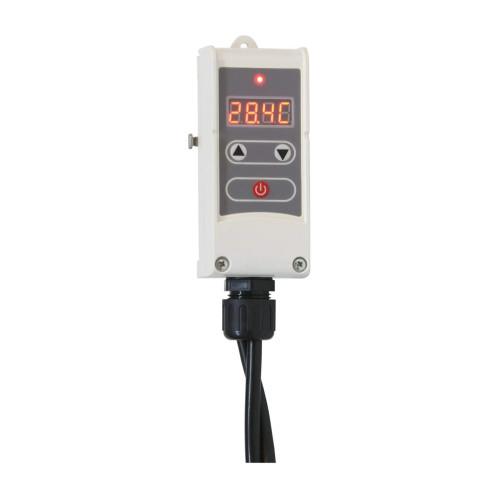 Termostat digital cu senzor contact Computherm WRP-100GD, Control pompa circulatie, Functie anti-inghet, Anti-blocare