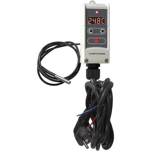 Termostat digital cu senzor contact la distanta Computherm WRP-100GC, Control pompa circulatie, Functie anti-inghet, Anti-blocare