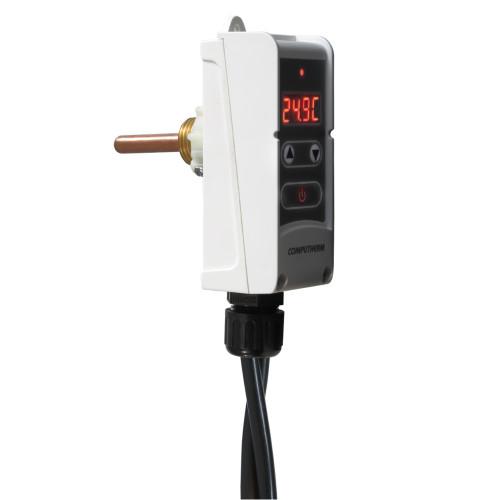 Termostat digital cu senzor imersie Computherm WRP-100GE, Control pompa circulatie, Functie anti-inghet, Anti-blocare