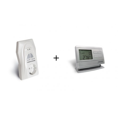 Termostat ansamblu Computherm Q1RX receptor-priza + Q8RF (TX)