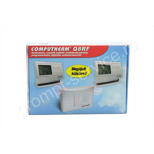 Termostat centrala termica Computherm Q8RF wireless (fara fir), programabil, pana la 4 zone