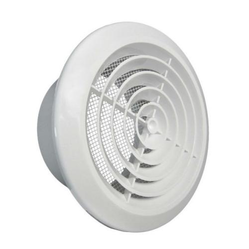 Grila ventilatie circulara cu plasa de insecte Dospel KOS 100