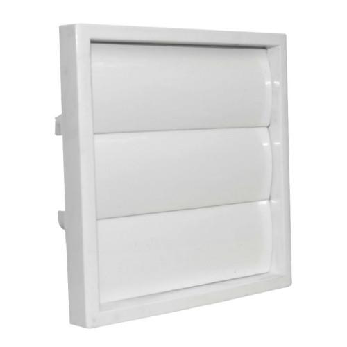 Grila ventilatie rectangulara cu jaluzele gravitationale Dospel KRZ 100/125 /B