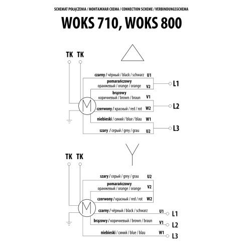 Ventilator industrial axial de perete Dospel WOKS 800