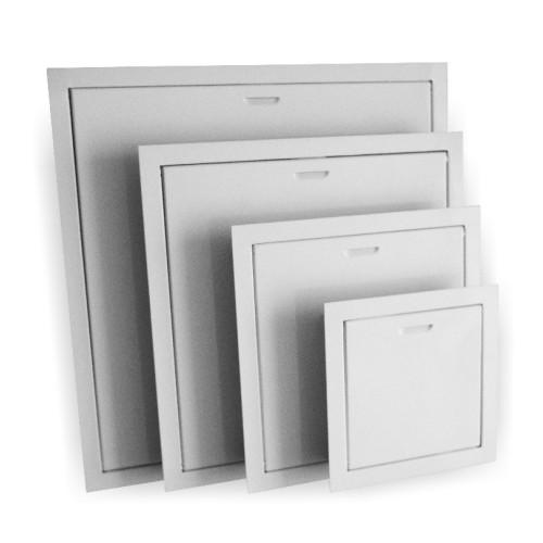 Usa de acces Dospel MAGNAT 400x400 mm, metal, prindere magnetica, alb