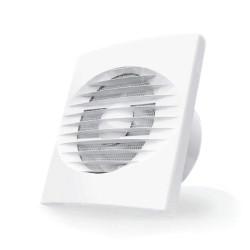 Ventilator casnic axial cu temporizator 2 - 23 minute Dospel Zefir 100 WC, diametru 100 mm, debit aer 100 mc/h, Plasa anti-insecte, Alb