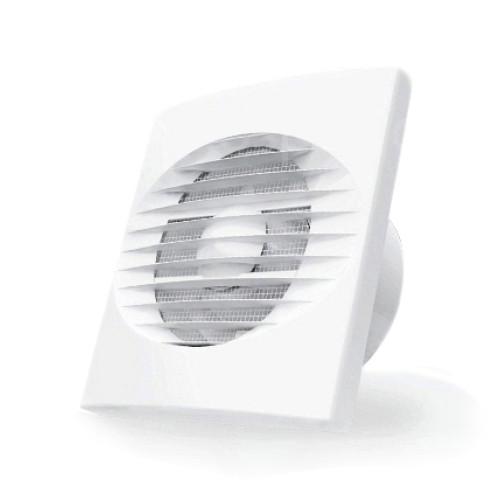 Ventilator casnic axial de perete Dospel Zefir 120 S, diametru 120 mm, debit aer 150 mc/h, Plasa anti-insecte, Alb