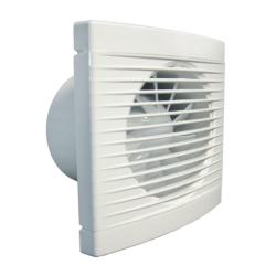 Ventilator casnic axial de perete cu intrerupator fir Dospel PLAY 125 WP, diametru 100 mm, debit aer 100 mc/h, Silentios, Alb