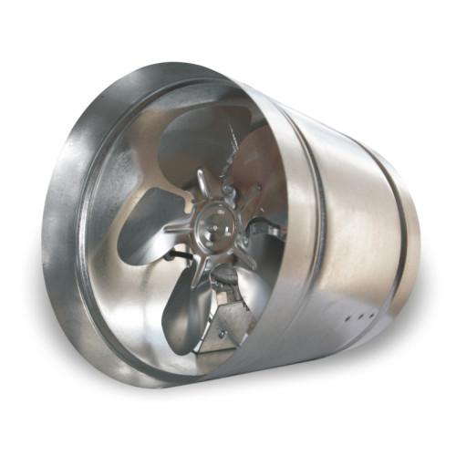 Ventilator industrial axial de tubulatura Dospel WB 200, debit aer 350 m³/h, corp otel galvanizat