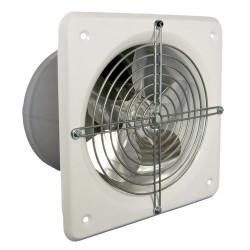 Ventilator industrial axial de perete Dospel WB-S 150, debit aer 270 mc/h, diametru 150 mm, Motor rulmenti, Corp metal, Alb