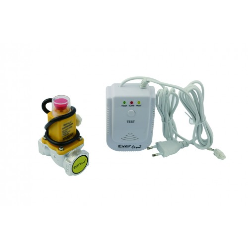 Detector de gaz natural cu electrovalva Everline ELG-QDG/E34, racord 3/4