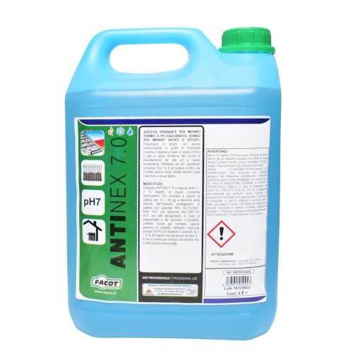Solutie pentru curatat instalatie incalzire, radiatoare, pardoseala Facot ANTINEX 7.0, 1 Litru