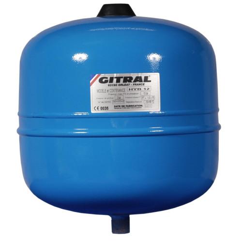 Vas de expansiune 12 litri Gitral HYB12, membrana fixa, 10 bar