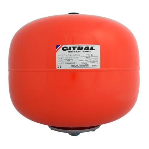 Vas de expansiune 25 litri Gitral VVEF 25 SP, membrana schimbabila, 10 bar, universal