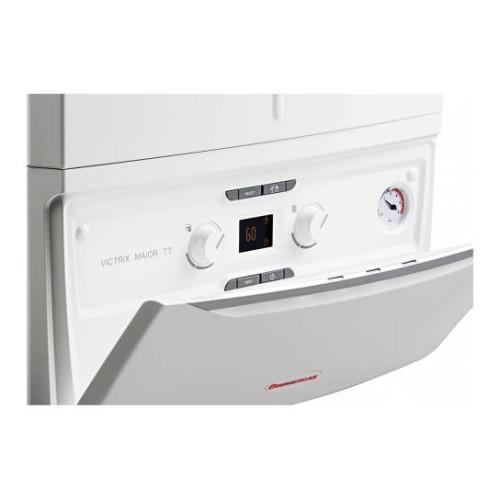 Centrala termica in condensare Immergas Victrix Maior 35 TT 1 ERP, 35 kW, panou comanda cu usa basculanta, kit evacuare inclus