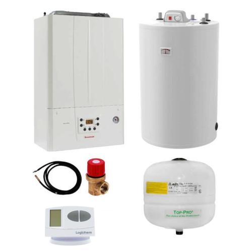 Pachet centrala termica in condesare Immergas Victrix Tera 24 PLUS si boiler Atlas 80 litri