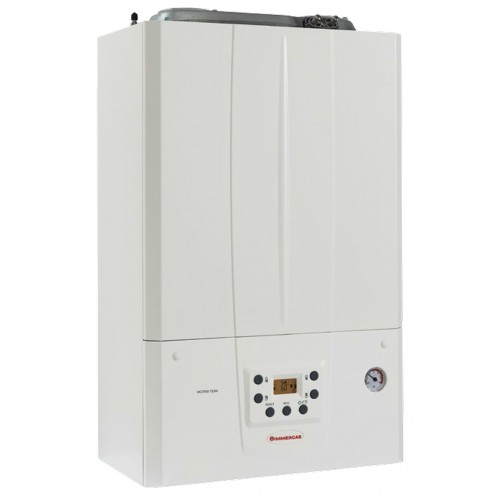 Centrala termica in condensare Immergas Victrix TERA 35 PLUS 1, Gaz, Tiraj fortat, un schimbatoare de caldura inox, Display digital, kit evacuare inclus