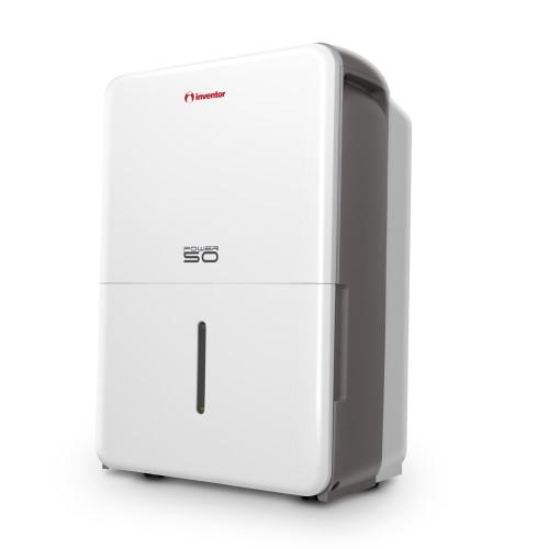 Dezumidificator casnic Inventor Power PWR-50L, capacitate 50 litri, Mod uscare haine, Dezumidificare inteligenta, Roti mobile