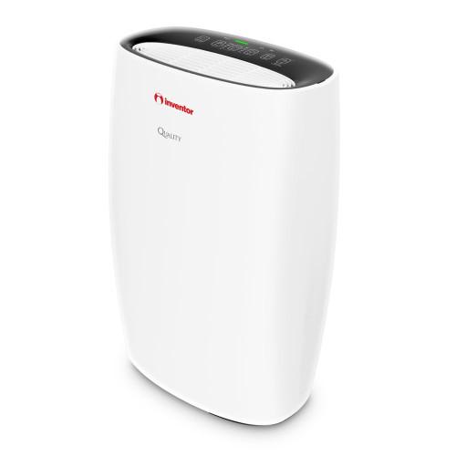 Purificator aer casnic Inventor Quality 300, Filtru Hepa, Ionizator, Indicator calitate aer, Mod Sleep, Alb